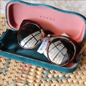 Gucci GG0028S Dark Havana Sunglasses